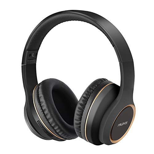 Active Noise Cancelling Headphones, Bluetooth 5.0 Over Ear Wireless Headphones with 30H Playtime, Deep Bass, Foldable Wireless Headset,CVC 6.0 Mic, ANC Headphones for Travel Work from FMLOVES