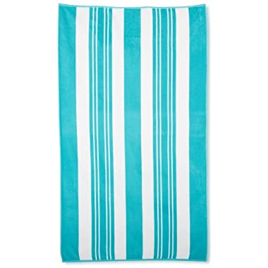 Northpoint Sorrento Combed Cotton Thick Terry Oversized Beach Towel, 40 by 70-Inch, Bellini Blue