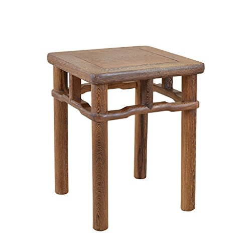 Fym Muebles de Caoba Taburete Cuadrado pequeño Taburete Chino de Madera Maciza, Uso en el hogar Antiguo Banco de Madera área de Descanso Longitud 32 cm, Ancho 32 cm