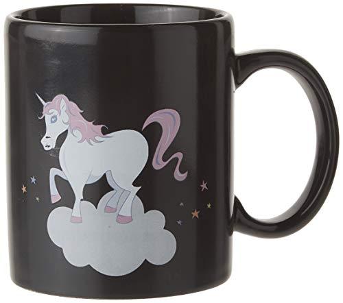 50 x 10,5 cm de Cincuenta Unicornio Calor Color-Cambio de Taza, Color Negro