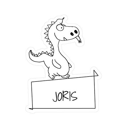 JOllipets baby kindersticker - Joris - variant: Dieren dierentuin - 10cm - Design: draak