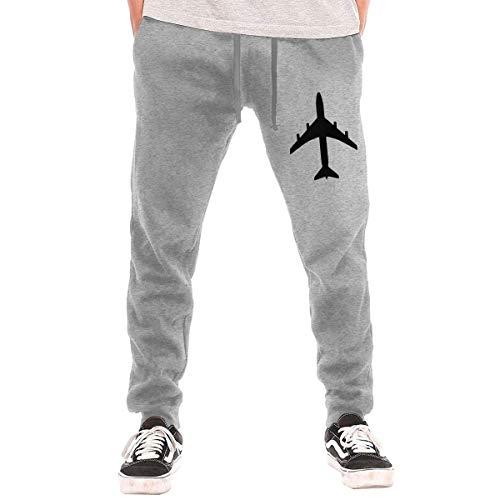 opi 90iuop Herren Jogginghose Passagierflugzeug wie die 747 oder Airbus Athletic Jogger Sports Long Pants