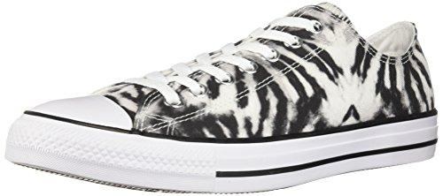 Converse Men's Chuck Taylor All Star Tie Dye Low Top Sneaker, Black/White/Black, 8 M US