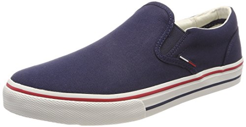 Tommy Hilfiger Herren Tommy Jeans Textile Slip ON Sneaker, Grau (Ink 006), 42 EU