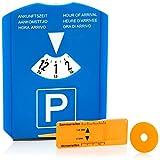 com-four® 1x Disco di Parcheggio con Raschia-Ghiaccio, Labbro di Gomma, Chip Carrello del...