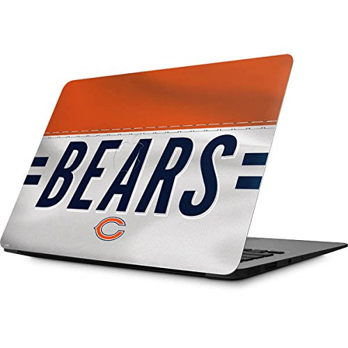 Skinit Decal Laptop Skin Compatible with MacBook Air 13 (2008&2009) - Officially Licensed NFL Chicago Bears White Striped Design