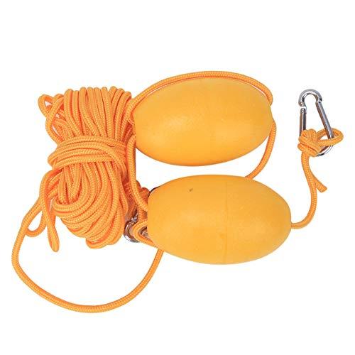 DAUERHAFT Boya de Espuma EVA de Bola Flotante para Kayak, para Bote de Kayak(Double Ball Yellow Rope Set)