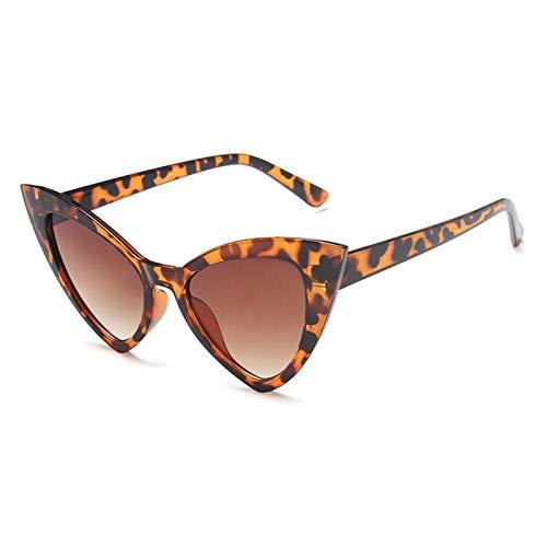 ZZOW Gafas De Sol Vintage con Forma De Ojo De Gato para Mujer, Gafas con Degradado De Color Caramelo Triangulares A La Moda, Gafas De Sol De Tendencia Femenina, Sombras Uv400