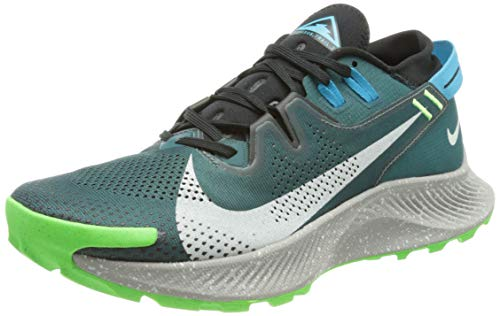 Nike Pegasus Trail 2, Scarpe da Corsa Uomo, Dk Teal Green/lt Silver-Black-lt Blue Fury-Green Strike, 45 EU