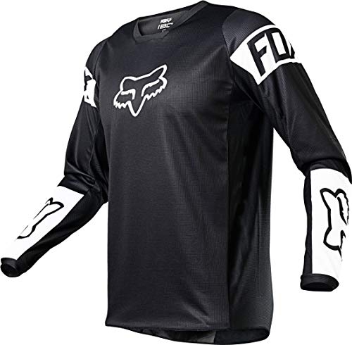 Fox Racing YTH 180 REVN Jersey, Black/White, Medium