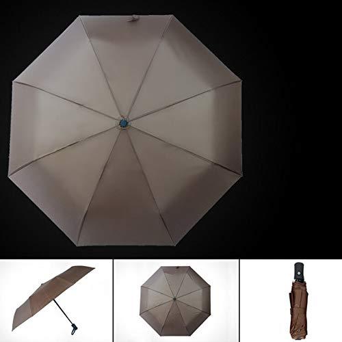 NJSDDB paraplu Automatische Vouwen Vrouwen Paraplu Regen Mannen Parasol Kwaliteit Waterdichte Mannelijke Merk Zonnig en Regenachtige Guarda-chuva, Koffie