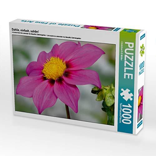 CALVENDO Puzzle Dahlie, einfach, schön! 1000 Teile Lege-Größe 64 x 48 cm Foto-Puzzle Bild von Christine Brendle-Behnisch Müller