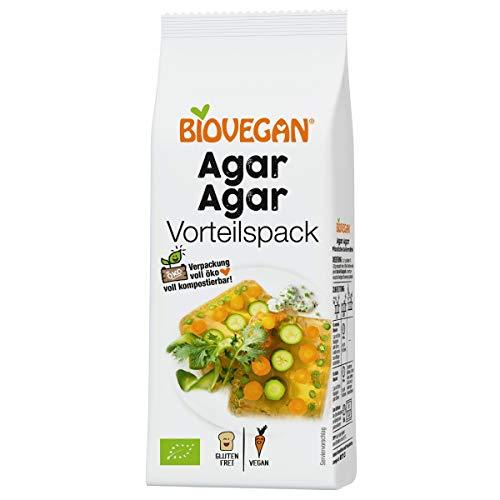Biovegan Bio Agar Agar 100g, rein pflanzliches Geliermittel, für Marmeladen, Torten und Aspik, glutenfrei und vegan