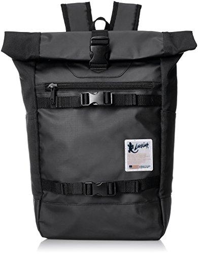 [ラーキンス] ロールトップ バックパック リュック LKPM-03 20L リフレクトワッペン 大容量 ブラック One Size