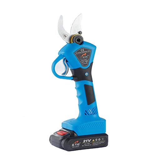 WFIZNB Cisaille électrique sans Fil, 21V Cisaille électrique Cisaille de Jardinage Professionnelle 30 mm (1,2 Pouces) Diamètre de Coupe avec Batterie 2 Ah,Bleu