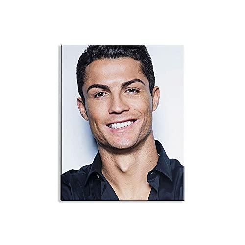 Juego de taladro completo de pintura de diamante 5D Cristiano Ronaldo Juventus Football Club Kits de punto de cruz Pintura de bordado de diamantes de imitación de cristal 30x40cm,Without Frame