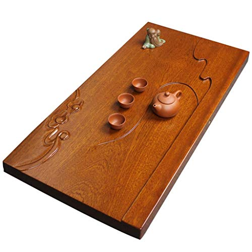Fantastic Deal! XCJJ Wooden Tea Tray Office Tea Set Solid Wood Tea Table Simple Rectangular Tea Tray...