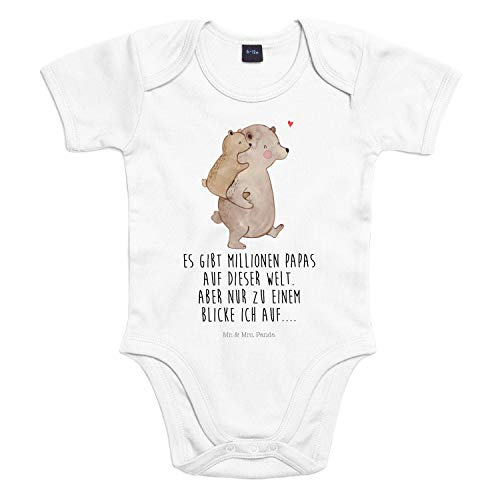 Mr. & Mrs. Panda Baby, Babysuit, 3-6 Monate Baby Body Papa Bär mit Spruch - Farbe Transparent