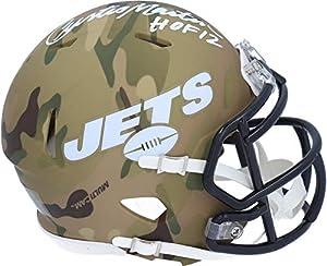 "Curtis Martin New York Jets Autographed Riddell Camo Alternate Speed Mini Helmet with""HOF 12"" Inscription - Autographed NFL Mini Helmets"