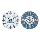 By SIGRIS Reloj Pared 34Cm Barco Faro Incluye 2 Unidades Adorno Pared Relojes Colección Marinero Y Náutico Signes Grimalt Decor And Go