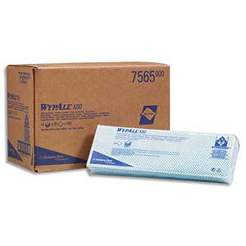 Pochette de 25 lavettes enchevêtrées bleus 25 x 42 cm WypallX80
