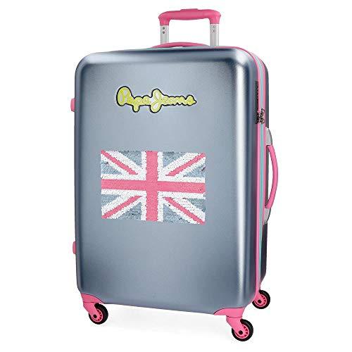 Pepe Jeans Bristol koffer, 67 cm, 68 liter, grijs