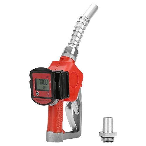 Zapfpistole, Zapfpistole Automatische Dreistellungsverriegelung Digital Fuel Oil Diesel Kerosin Benzindüse Zapfpistole mit Durchflussmesser