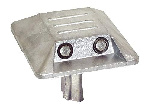 Betriebsausstattung24® Alu-Markierungsnagel | Mit Schaft | Eckig | Abmessung: 10 x 10 cm | Aluminium | (1, zwei Reflexlinsen beidseitig)