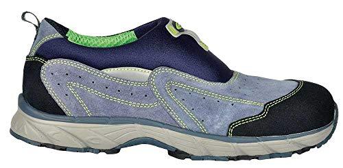 Cofra JV042-000 - Zapatos de seguridad S1P Obra Nueva cielo volando, zapatillas sin cordones o velcro talla 44