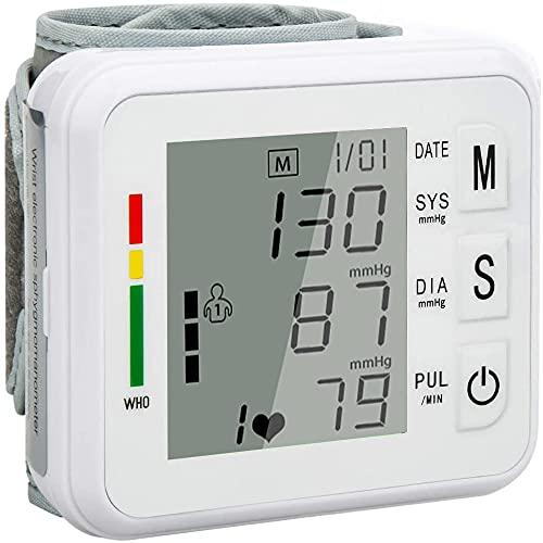 Misuratore di Pressione Sanguigna da Polso,Misuratore Pressione Automatica Arteriosa e Battito Cardiaco,Misurare...