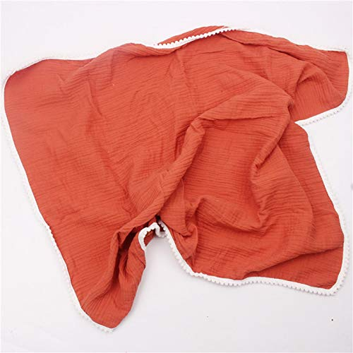 Manta de algodón para bebé 80 * 65 cm, Mantas Suaves para recién Nacidos, Gasa de baño, Envoltura para bebé, Saco de Dormir, Funda para Cochecito