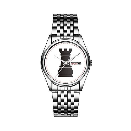 Reloj de pulsera para hombre de lujo, resistente al agua, 30 m, con fecha, reloj de pulsera deportivo, de cuarzo, informal, color negro