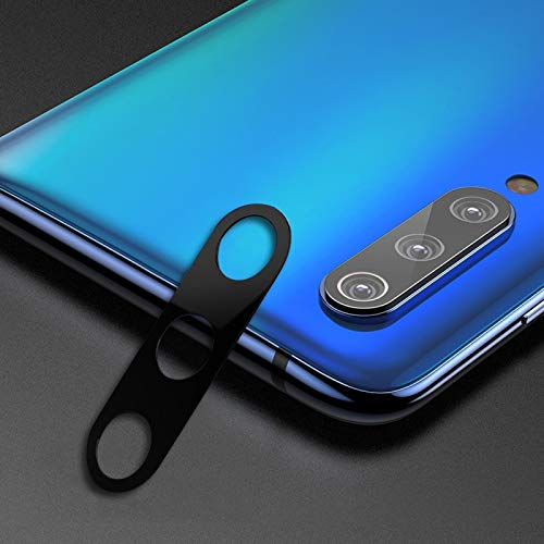 Webcam afdekking volledige afdekking mobiele telefoon metalen achterste cameralens bescherming-ring-afdekking voor Xiaomi Mi 9 SE (10D), zwart
