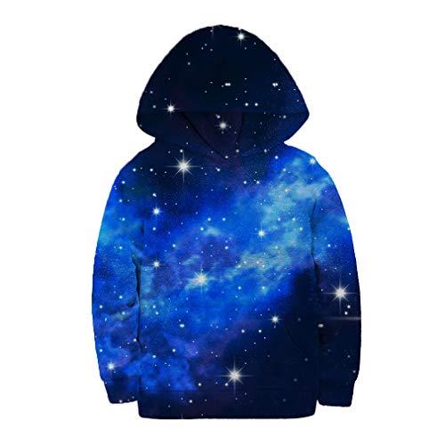 SAYM Boys' Teen Youth Galaxy Fleece Sweatshirts Pockets Cotton Hoodies 4-16Y NO21 S