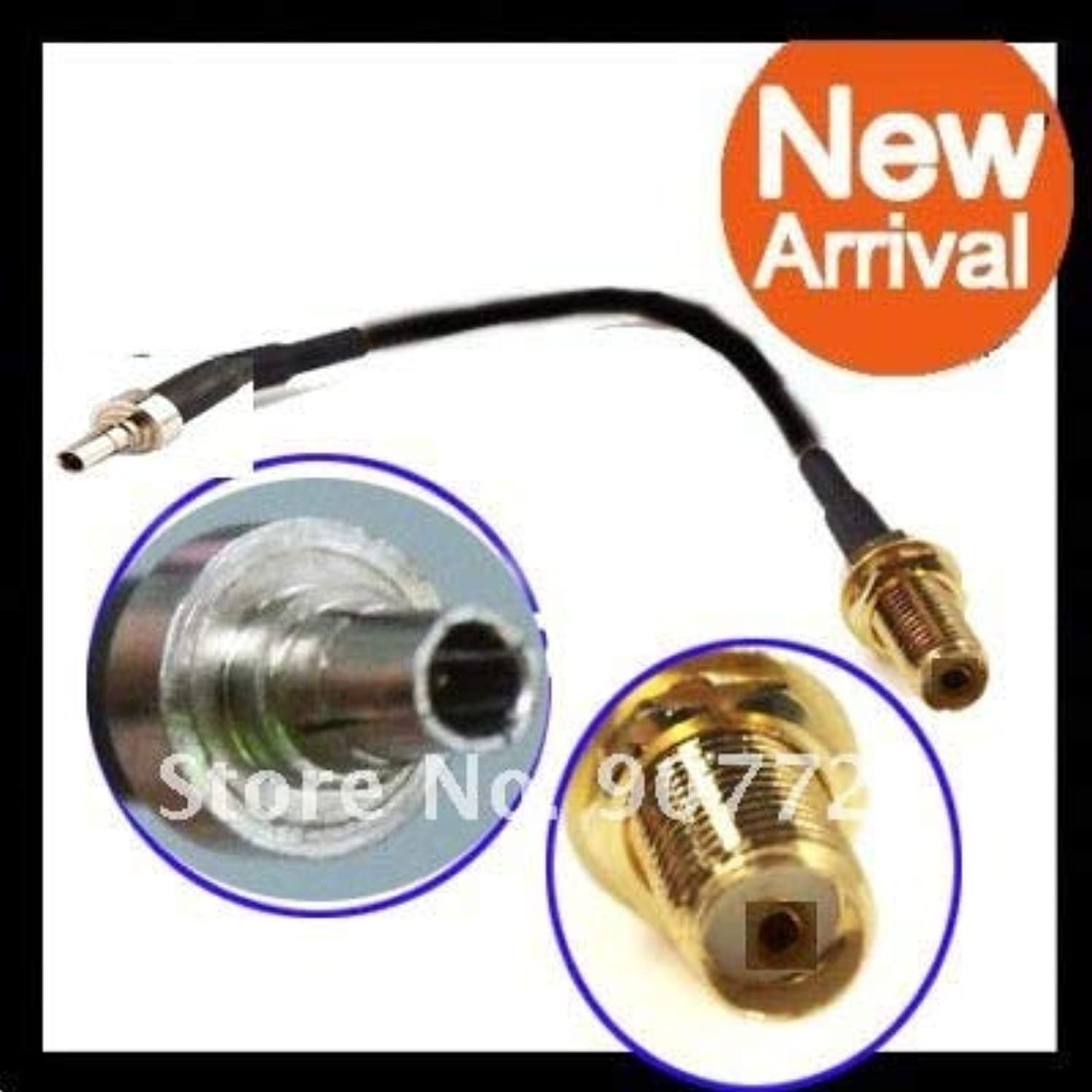 Gimax 10PCS CRC9 Male Plug To SMA Jack Female RG174 3G Huawei Modem Jump Cable 18cm