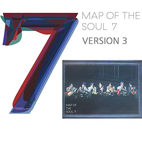 BANGTAN BOYS Map of The Soul : 7 BTS Album PreOrder (Version 3) CD+Official Poster+Photo Book+Lyric Book+Mini Book+Photocard+Postcard+Coloring Paper+Sticker