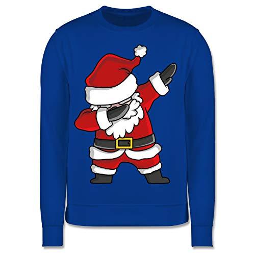Shirtracer Weihnachten Kind - Dabbing Weihnachtsmann - 116 (5/6 Jahre) - Royalblau - weihnachtsmann Pullover - JH030K - Kinder Pullover