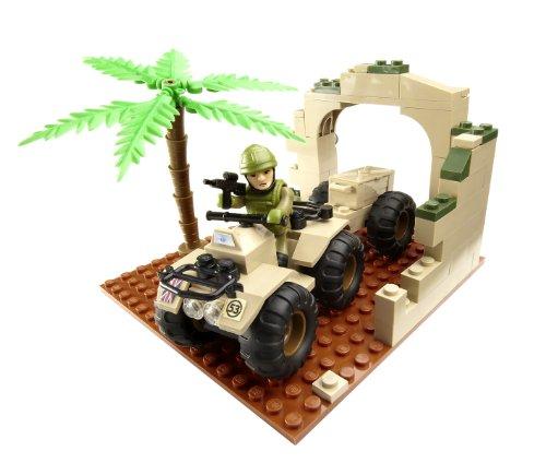 Dr Who Character Building Armee Quad Bike Mini Konstruktion Spielset