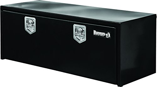 Buyers Products - 1702310 Black Steel Underbody Truck Box w/ T-Handle Latch (18x18x48 Inch)