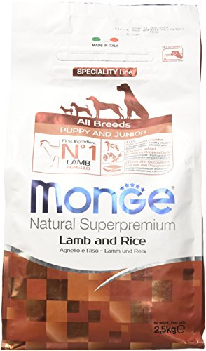 Monge all Breeds Puppy & Junior Agnello e Riso 2,5 kg