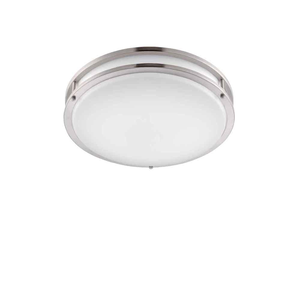 デザイナーの泉EV1412LED-BN薄型LED埋め込みシーリングライト、30.48 cm、つや消しニッケル/ホワイト調光スイッチ付