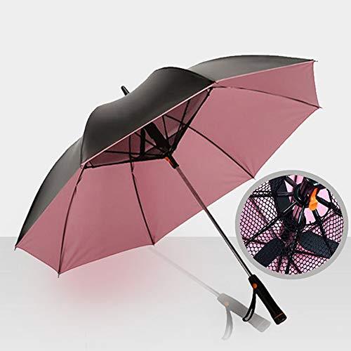 Ai LIFE Fan Regenschirm Sonnenschirm Golfschirm im Freien Sonnenschirme Werden von Einer Lüfterbatterie gespeist, um Sie kühl zu halten...