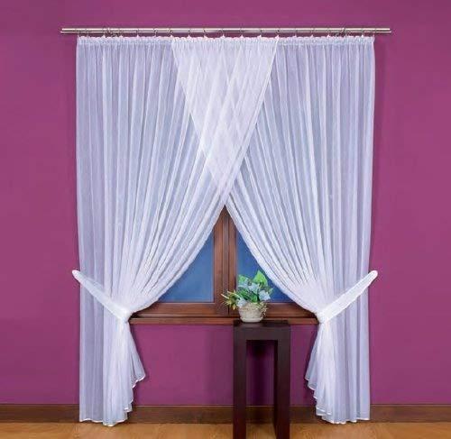 Alle 4 Decor Mooie lange voile net gordijn, jardiniere, paneel, raamdecoratie / FK0154