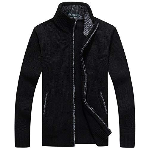 Suéteres de invierno para hombre, cálidos, gruesos, abrigos para hombre, casual Negro Negro ( XXL