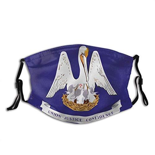 Gesichtsbedeckung,Unisex Staubdichter,Gesichtsdekorationen,Mundschutz,Für Die Persönliche Gesundheit,Louisiana Staatsflagge Louisiana La Flaggen