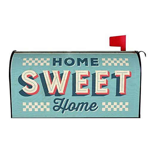 POUKOEY Briefkastenabdeckungen, magnetisch, Vintage, Sweet Home, wasserdicht, Briefkasten-Umhüllung, Standardgröße 53,3 x 64,8 cm, für Garten und Hof.