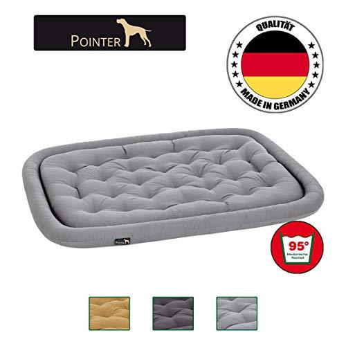 Pointer orthopädisches Hundekissen, ovale Hundematratze Kochfest und Kratzfest, Premium Qualität, Hellgrau XL