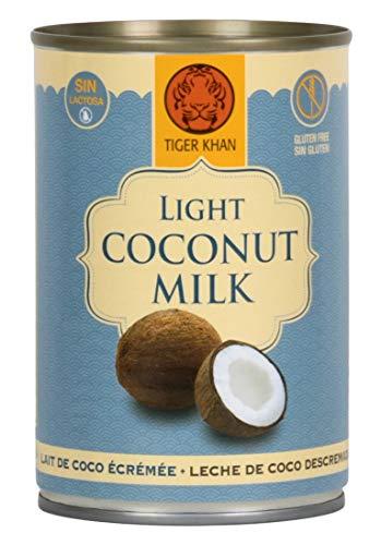 TIGER KHAN Leche de Coco Light 400ml | Pack de 12