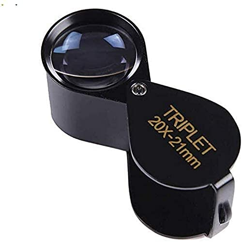 ZHAOJ Lupa Plegable portátil HD con identificación, joyería de Jade Antigua, 10 Veces, 20 Veces, 30 Veces, Lupa