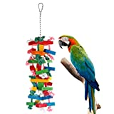 Bvanki Pure Natural Wood Parrot Toys, 21 inch...